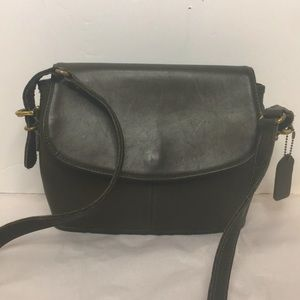 COACH 9801 EVER GREEN GLOVE Leather